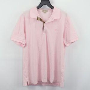 Burberry Brit Novacheck Plaid Polo Shirt Pink M